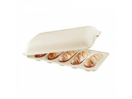 Pečicí forma Emile Henry na 5 mini bagetek, lněná, 39 x 23 cm