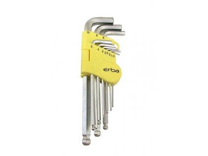 Imbusový klíč 9 ks ERBA ER-46010