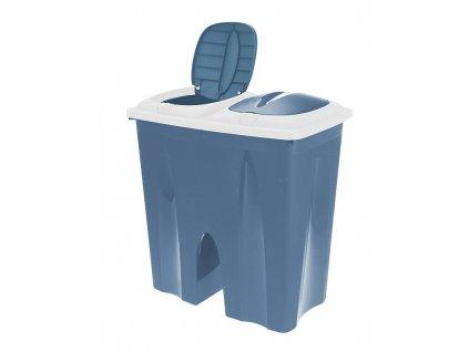 Odpadkový koš na tříděný odpad 2 x 25 l modrá EXCELLENT KO-Y54230710mo