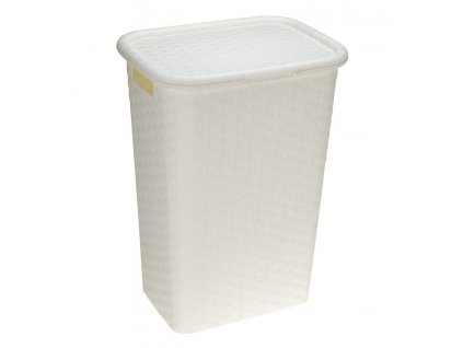 Koš na prádlo plast 60 l bílá, KO-Y54980860bila