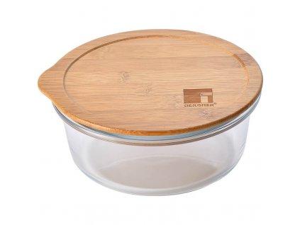 Dóza na potraviny skleněná s bambusovým víkem 0,95 l
