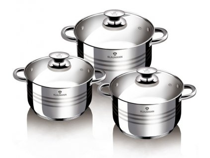 Sada nádobí nerez 6 ks Gourmet line BLAUMANN BL-3174