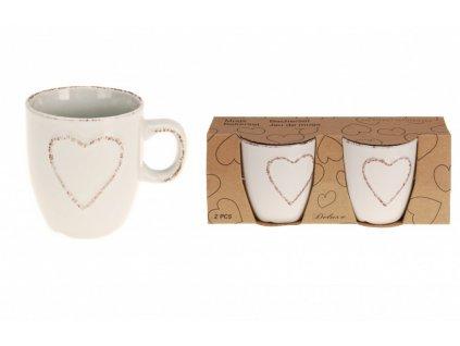 Hrnek na espresso srdce 150 ml sada 2 ks bílá KO-Q75910100bila