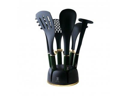 Kuchyňské náčiní ve stojanu sada 7 ks Berlingerhaus Emerald Collection BH-6243