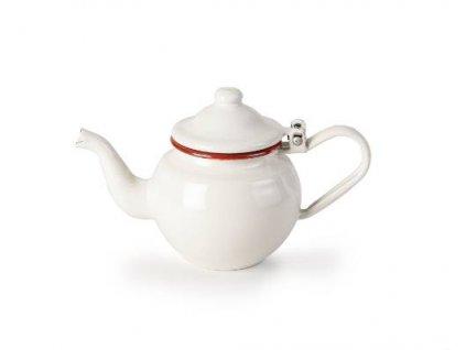 Konvička na čaj smaltovaná bílo červená 0,4l - Ibili