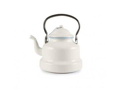 Smaltovaná konvička na čaj světle modrý lem 1l Ibili