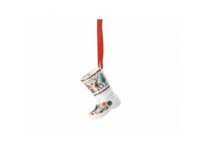 Rosenthal Hutschenreuther porcelánová ozdoba na stromeček botička z kolekce Vánoční pečení, výška 7,5 cm