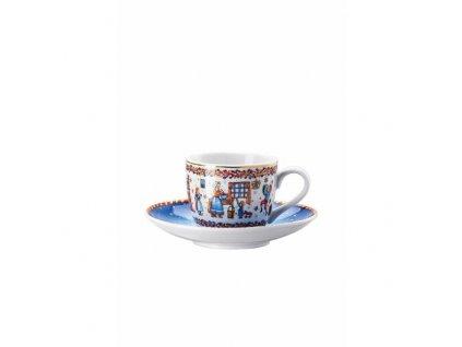Rosenthal Hutschenreuther porcelánový vánoční šálek na espresso s podšálkem, z kolekce Vánoční pečení, objem 0,08 l / průměr 12 cm