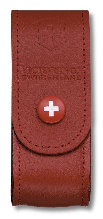 Victorinox Červené kožené pouzdro na nůž 91mm (4.0520.1)