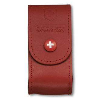Victorinox Červené kožené pouzdro na nůž 91mm (4.0521.1)