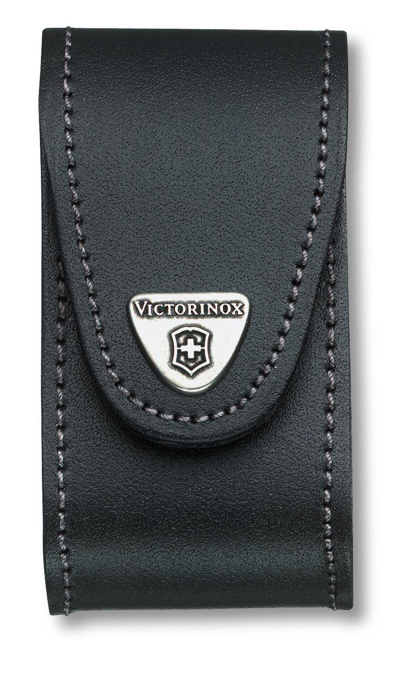 Victorinox Černé kožené pouzdro na nůž 91mm (4.0521.3)