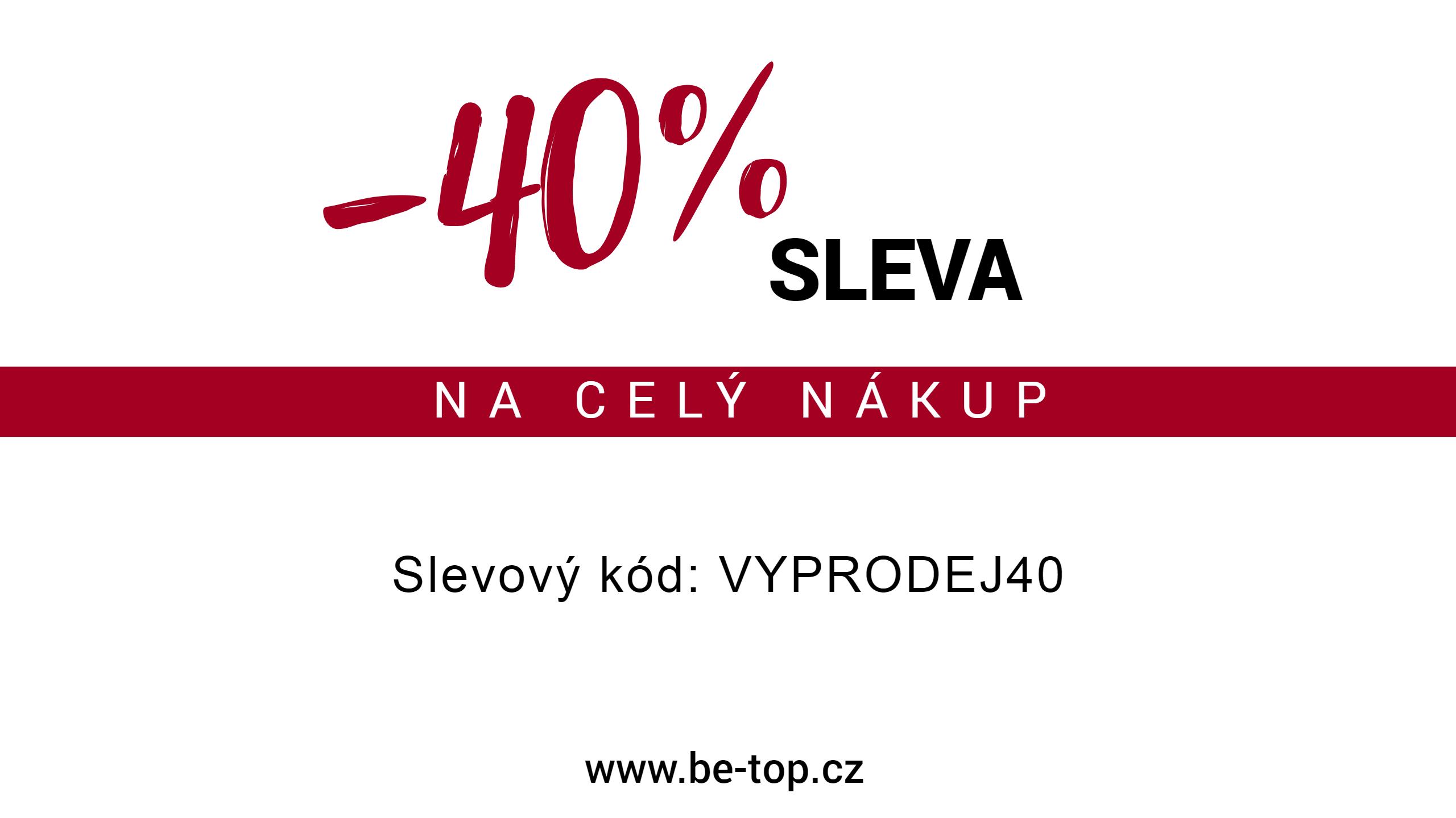 Vyprodej 40%