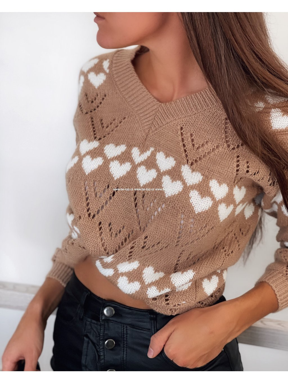 Pletený svetr HEARTS