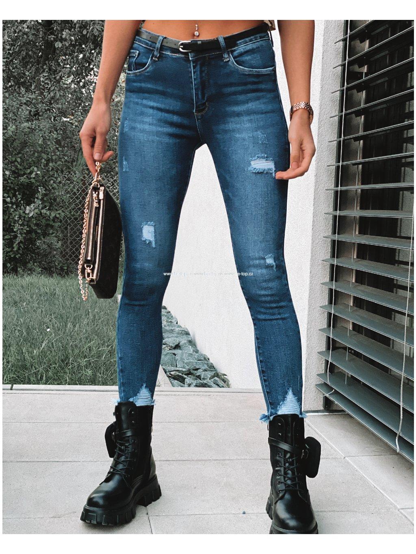 Trhané skinny džíny ELLA /modré