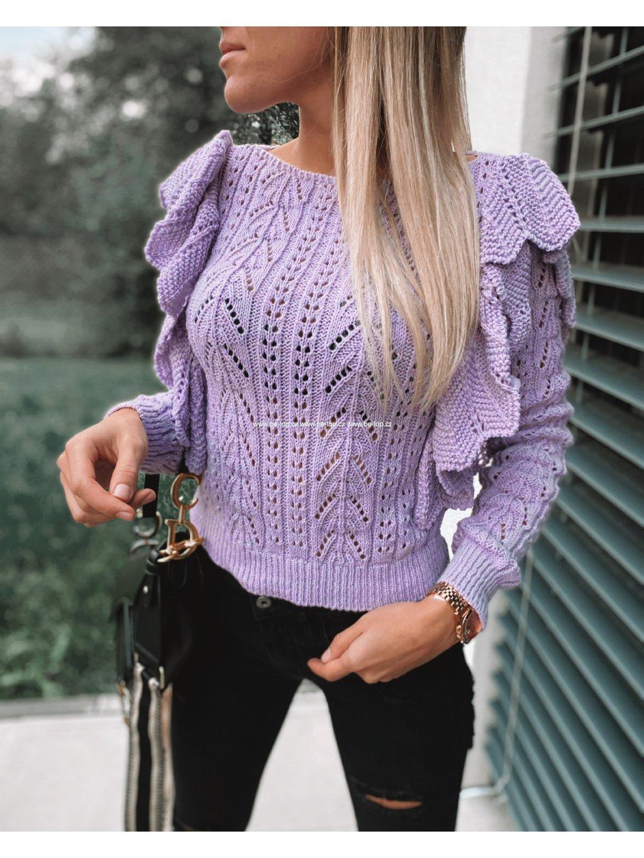 Pletený svetr WILLA /lilac
