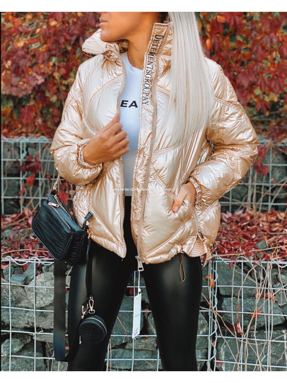 Zlatá zimní bunda ASPEN