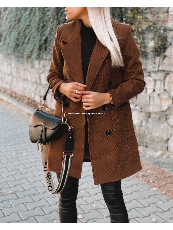 Hnědý kabát LULU