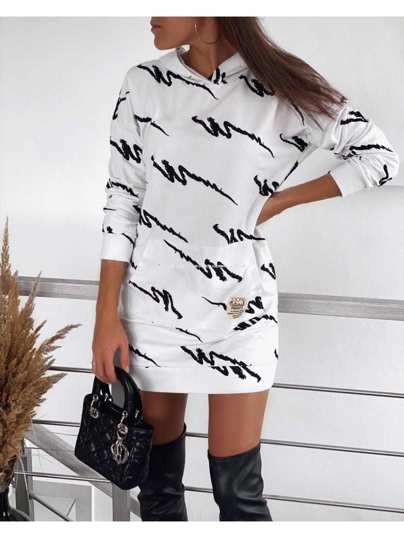 Mikinové šaty BRUSH
