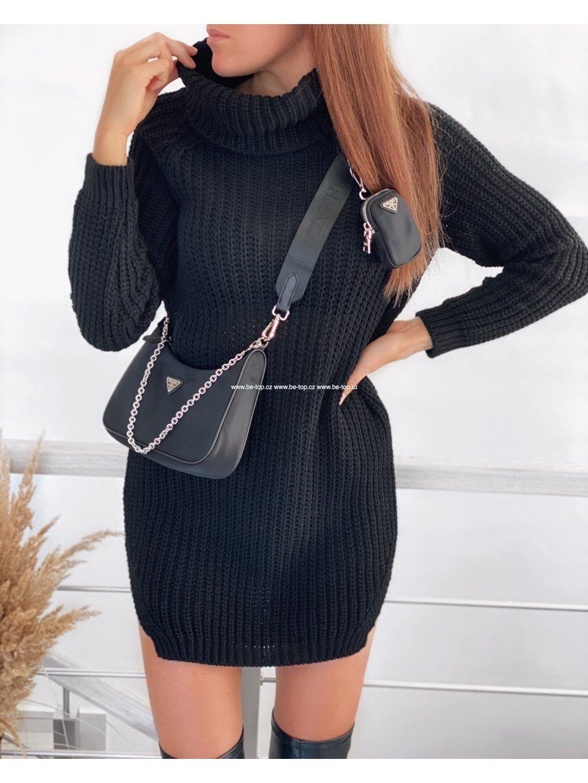 Pletený rolákový svetr / šaty CLASSY
