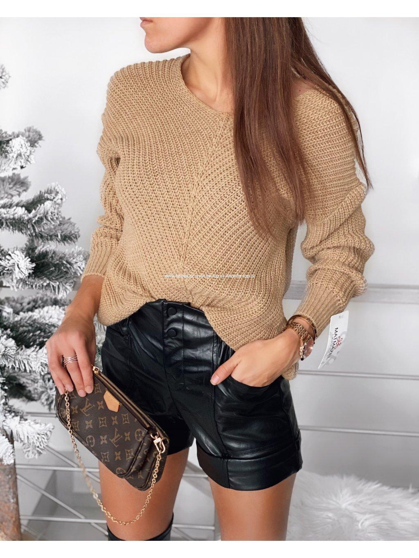 Pletený svetr CAMEL