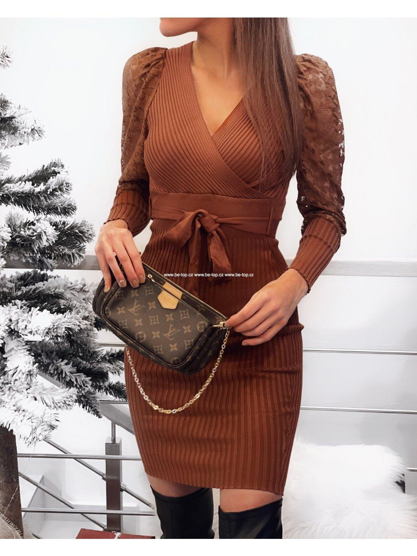 Šaty s dlouhým rukávem ENZO