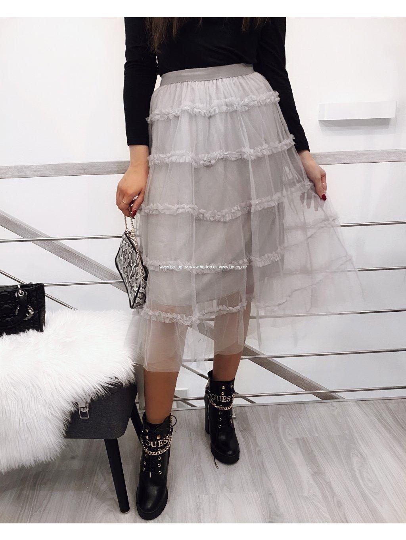 Tylová sukně LILA