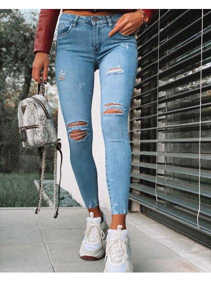 Modré trhané džíny REA