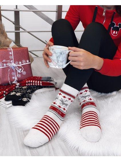 Vánoční vlněné ponožky s dárkovou taškou