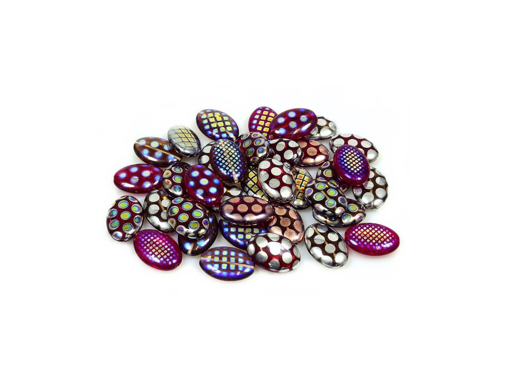 Mix of glass pressed beads 11199006 20x14 mm mix