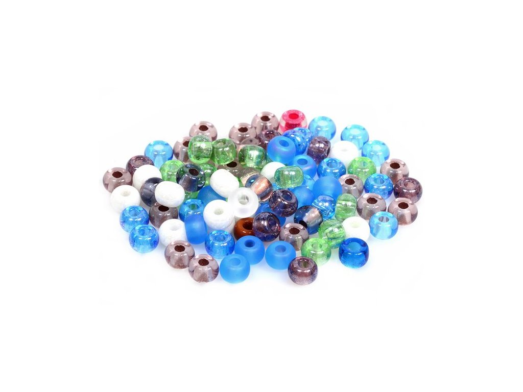 Pressed seed beads 11109024 2/0 mix of colors