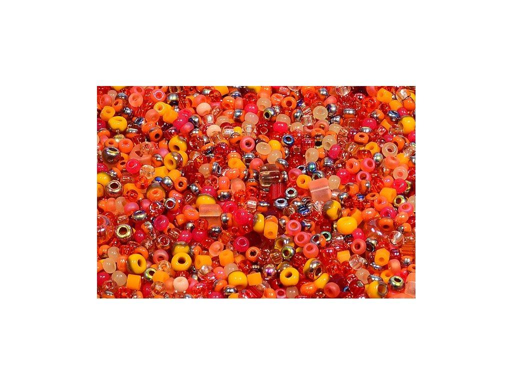 Seed beads mix - orange