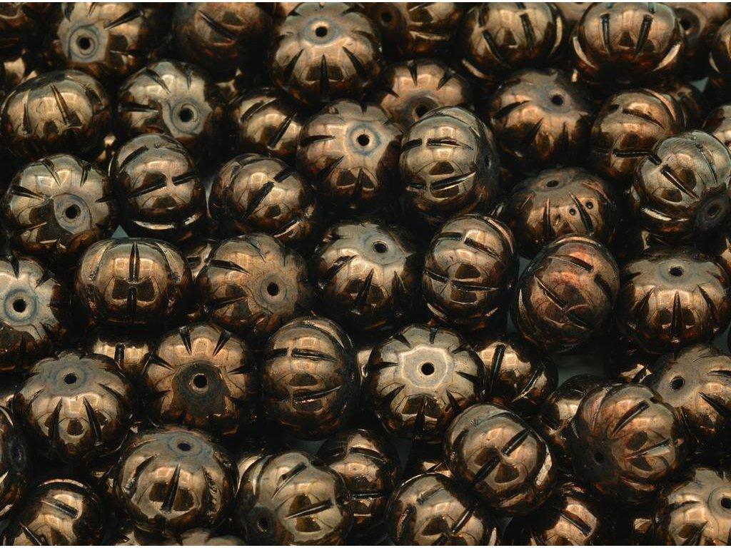 Shaped pressed beads - pumpkin 11100206 8x11 mm 23980/14415