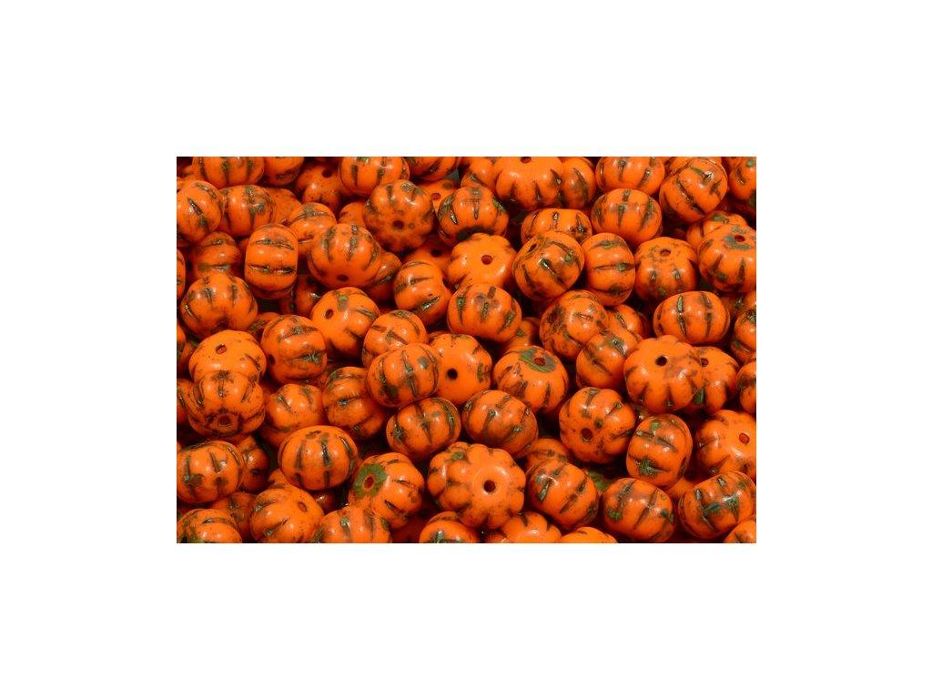 Pumpkin beads 11100206 8x11 mm 93130/86800