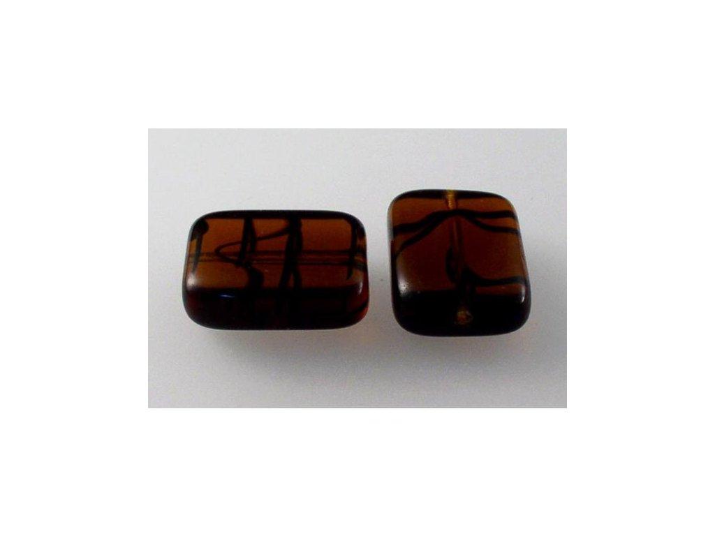 Shaped pressed bead 11101074 20x15 mm 18016
