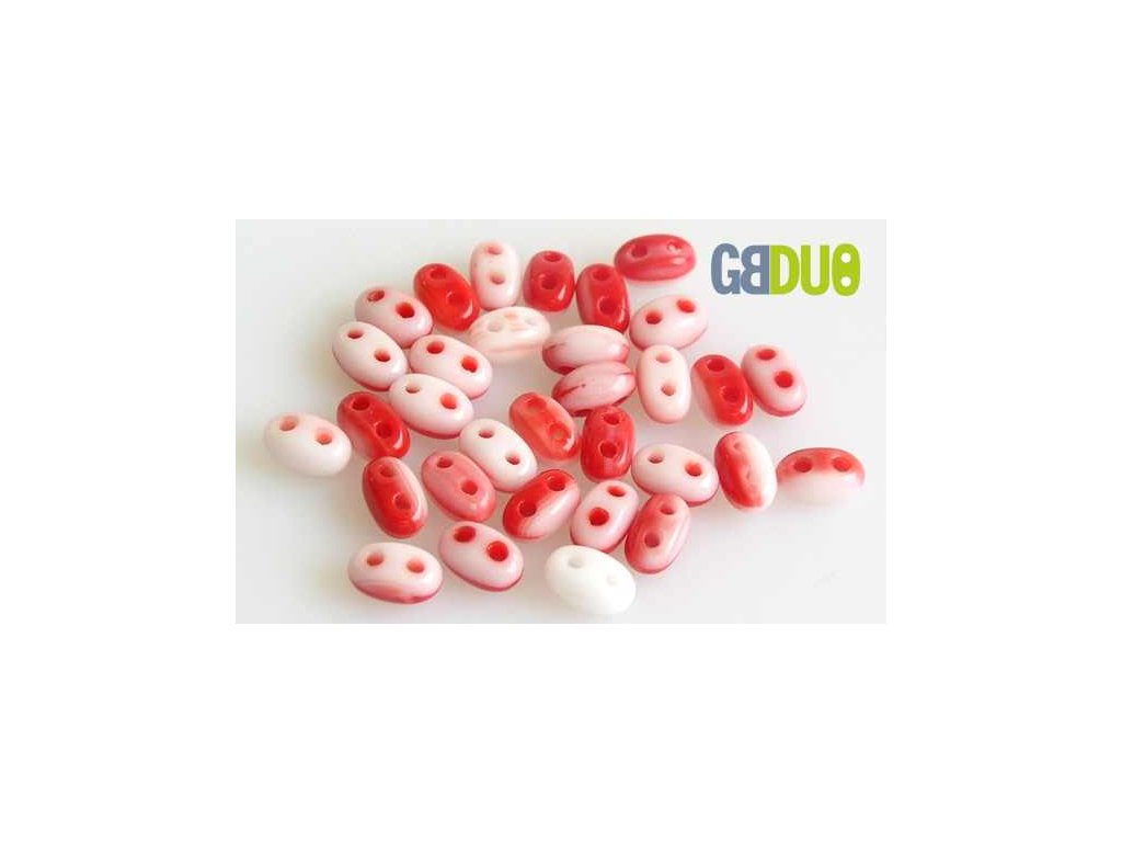 GBDUO 2,5x5 mm mix red-white