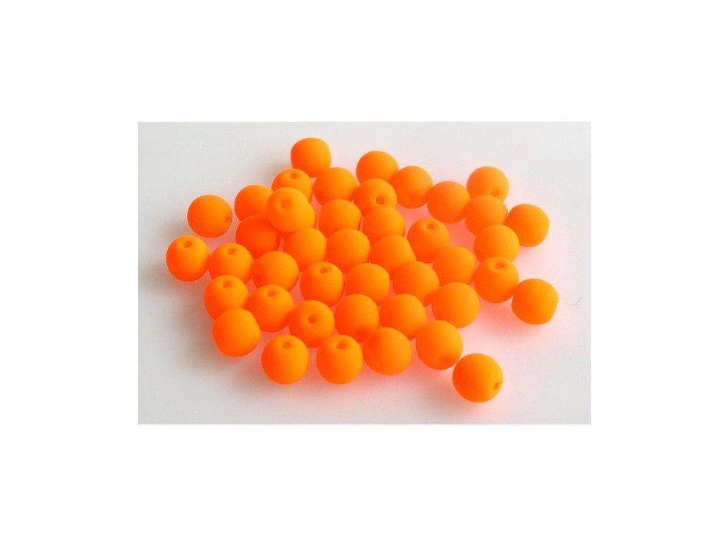 Round pressed bead NEON 6 mm 02010/25122