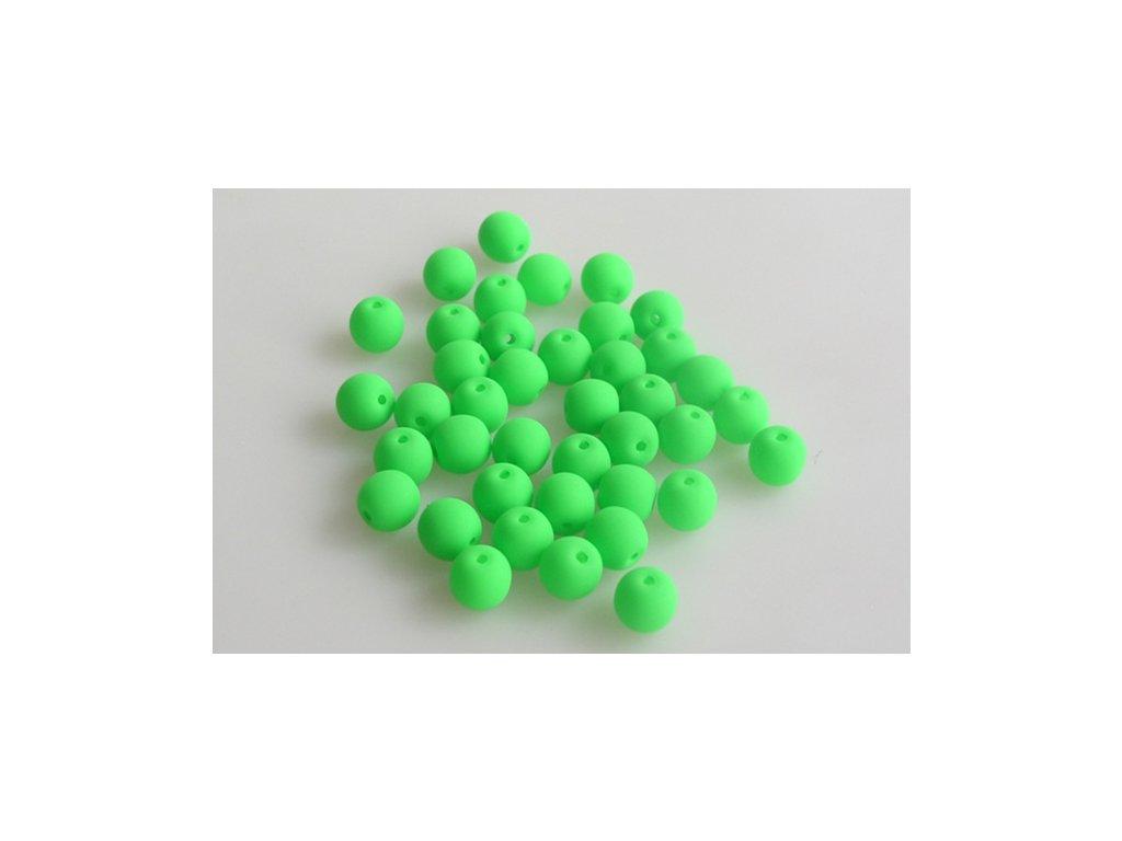 Round pressed bead NEON 6 mm 02010/25124