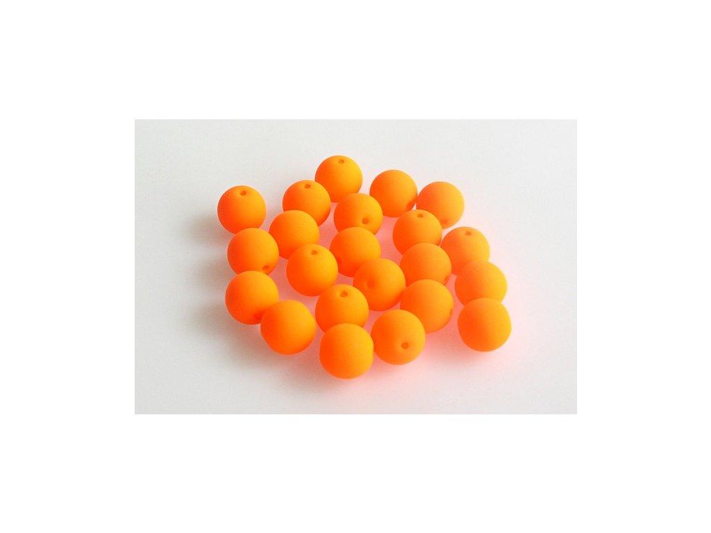 Round pressed bead NEON 8 mm 02010/25122