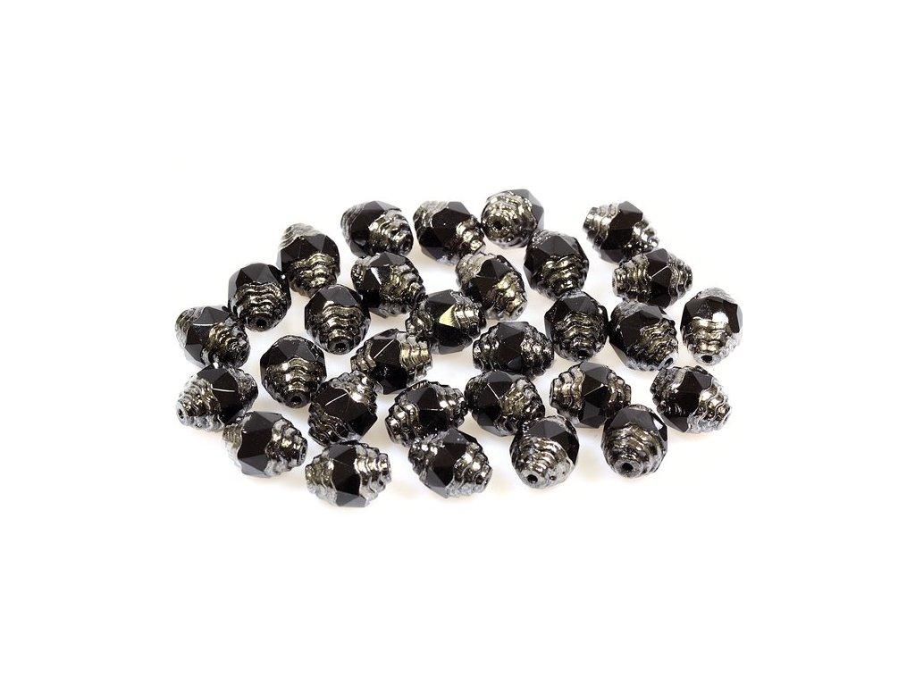 Faceted olives 15129802 10x8 mm 23980/91436