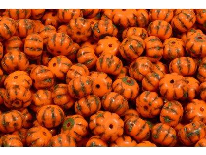 Shaped pressed beads - pumpkin 11100206 8x11 mm 93130/86800