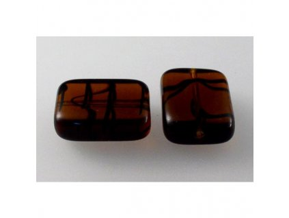 Shaped pressed bead 11101074 20x15 mm 18016