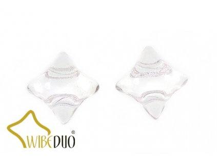 WIBEDUO 8x8 mm 00030 - crystal