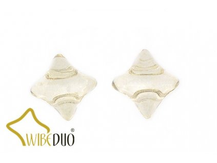 WIBEDUO 8x8 mm 00030/14413 - crystal/champagne lustre