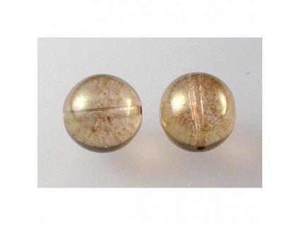 Round pressed glass bead 12 mm 00030/15495