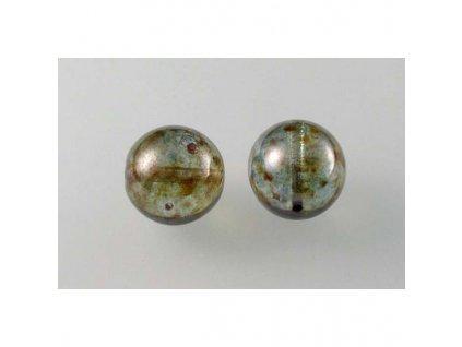 Round pressed glass bead 12 mm 00030/65431