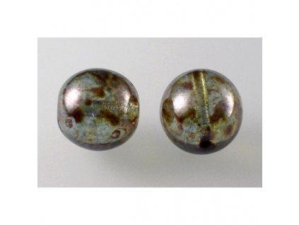 Round pressed glass bead 14 mm 00030/65431
