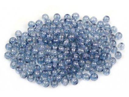 Round pressed glass beads 4 mm 00030/15464