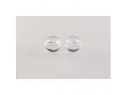Round pressed glass bead 6 mm 0003