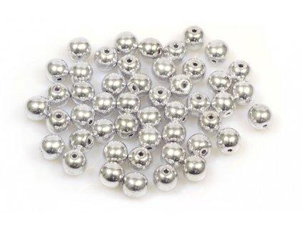 Round pressed glass bead 6 mm 00030/27000