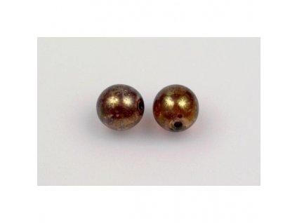 Round pressed glass bead 8 mm 00030/15421